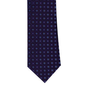 Navy Diamond Neat Tie